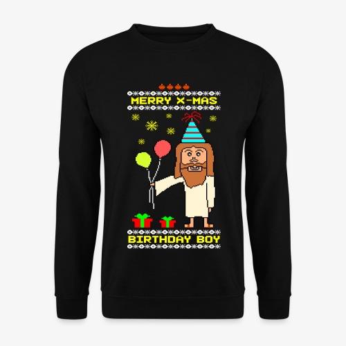 Männer Pullover Jesus Birthday Boy Ugly Xmas - Männer Pullover