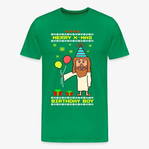 Männer Premium T-Shirt Jesus Birthday Boy Ugly Xmas - Männer Premium T-Shirt