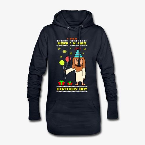 Hoodie-Kleid Jesus Birthday Boy Ugly Xmas - Hoodie-Kleid