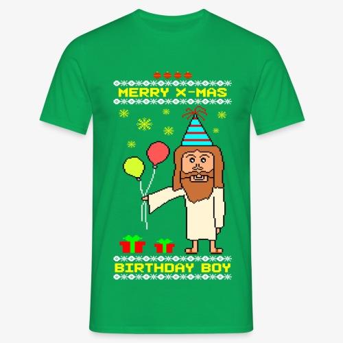 Männer T-Shirt Jesus Birthday Boy Ugly Xmas - Männer T-Shirt