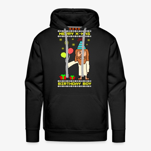 Männer Premium Hoodie Jesus Birthday Boy Ugly Xmas - Männer Premium Hoodie