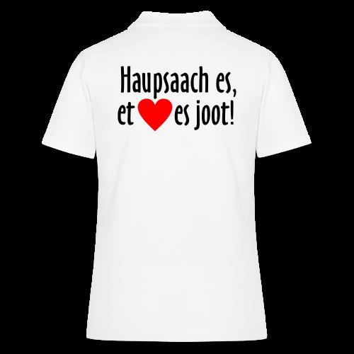 Haupsaach es, et Hätz es joot! Köln Poloshirt - Frauen Polo Shirt