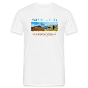 Walking on Islay - Front - Men's T-Shirt