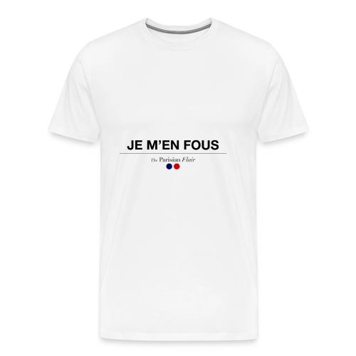 JE M'EN FOUS homme  - T-shirt Premium Homme