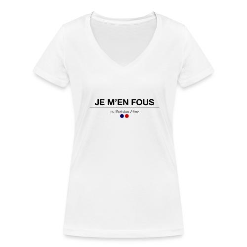 JE M'EN FOUS - Femme - T-shirt bio col V Stanley & Stella Femme