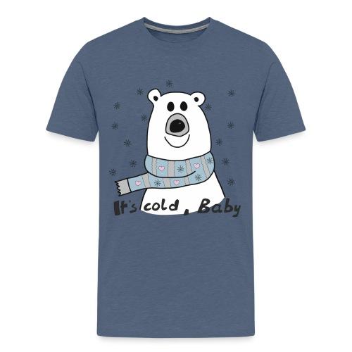 Eisbär - Its cold Baby - Männer Premium T-Shirt