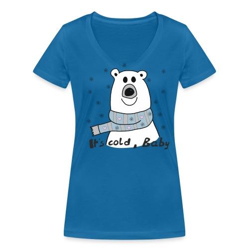 Eisbär - Its cold Baby - Frauen Bio-T-Shirt mit V-Ausschnitt von Stanley & Stella