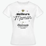 Tee shirt Meilleure Maman éblouissante  blanc par Tshirt Family