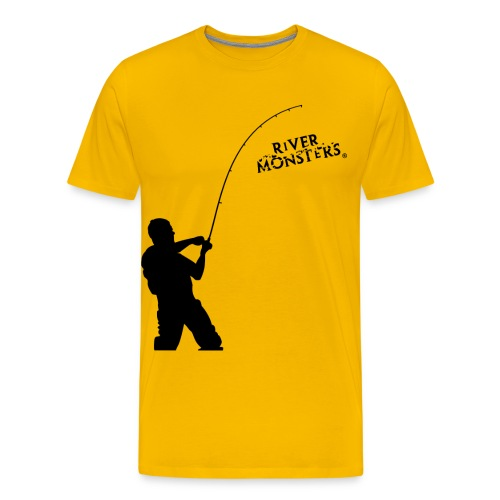 Big Silhouette Fisherman - Men's Premium T-Shirt - Men's Premium T-Shirt