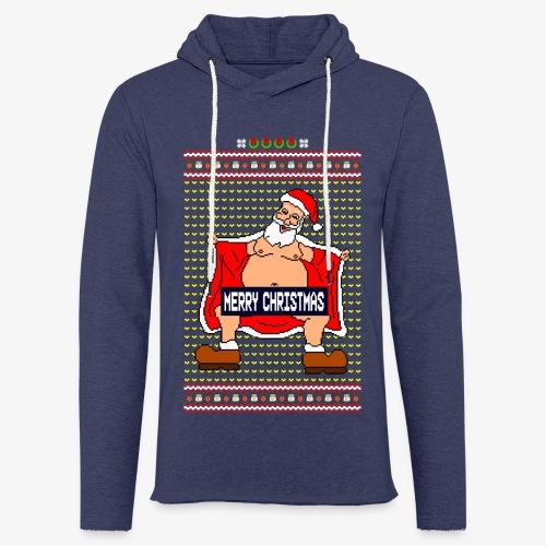 Leichtes Kapuzensweatshirt Unisex Merry Christmas Ugly Fun - Leichtes Kapuzensweatshirt Unisex
