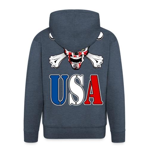 USA Skull - Veste à capuche Premium Homme