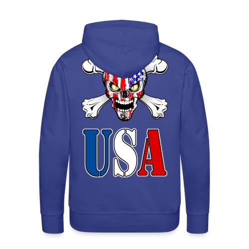 USA Skull - Sweat-shirt à capuche Premium pour hommes