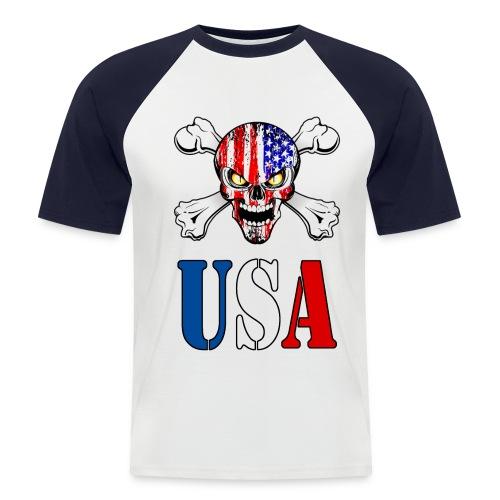 USA Skull - T-shirt baseball manches courtes Homme