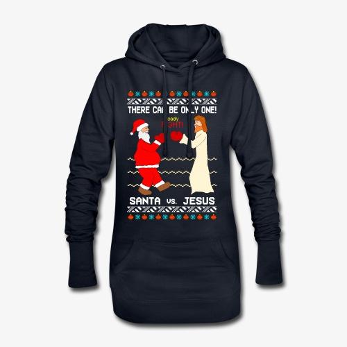 Hoodie-Kleid Santa vs Jesus Ugly Christmas - Hoodie-Kleid