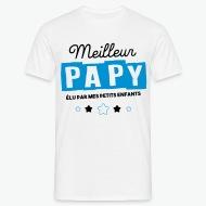 T-shirt Meilleur Papy élu par mes petits enfants blanc par Tshirt Family