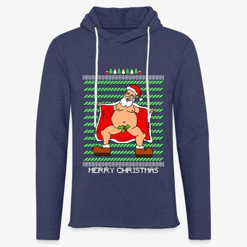 Leichtes Kapuzensweatshirt Unisex Sexy Santa Ugly Christmas - Leichtes Kapuzensweatshirt Unisex