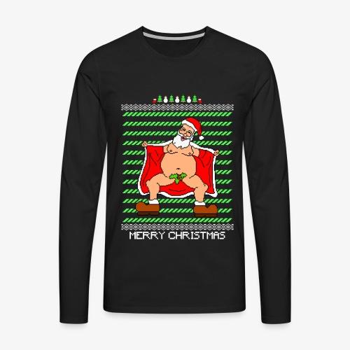 Männer Premium Langarmshirt Sexy Santa Ugly Christmas - Männer Premium Langarmshirt