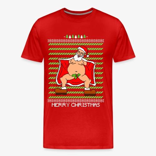 Männer Premium T-Shirt Sexy Santa Ugly Christmas - Männer Premium T-Shirt