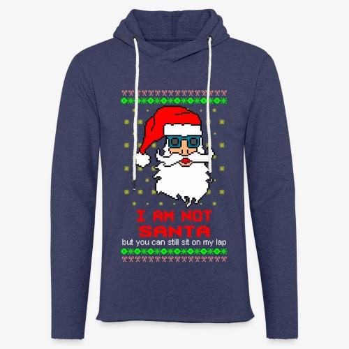 Leichtes Kapuzensweatshirt Unisex sit on my lap ugly xmas - Leichtes Kapuzensweatshirt Unisex