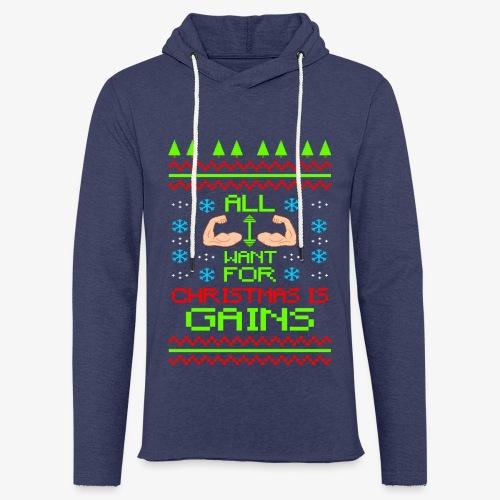 Leichtes Kapuzensweatshirt Unisex Fitness Ugly Christmas - Leichtes Kapuzensweatshirt Unisex