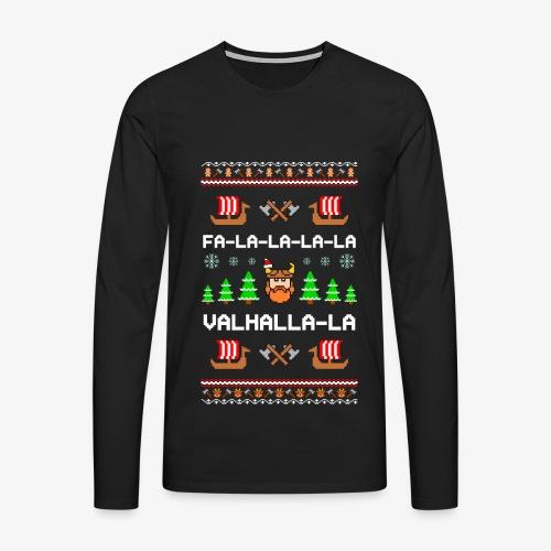 Männer Premium Langarmshirt Valhalla Wikinger Ugly Xmas - Männer Premium Langarmshirt