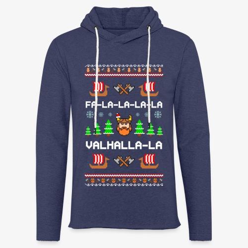 Leichtes Kapuzensweatshirt Unisex Valhalla Wikinger Ugly Xmas - Leichtes Kapuzensweatshirt Unisex
