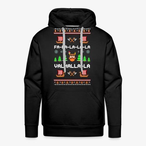 Männer Premium Hoodie Valhalla Wikinger Ugly Xmas - Männer Premium Hoodie