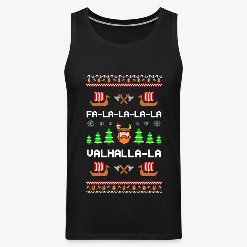 Männer Premium Tank Top Valhalla Wikinger Ugly Xmas - Männer Premium Tank Top