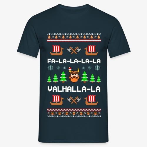 Männer T-Shirt Valhalla Wikinger Ugly Xmas - Männer T-Shirt