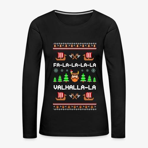 Frauen Premium Langarmshirt Valhalla Wikinger Ugly Xmas - Frauen Premium Langarmshirt