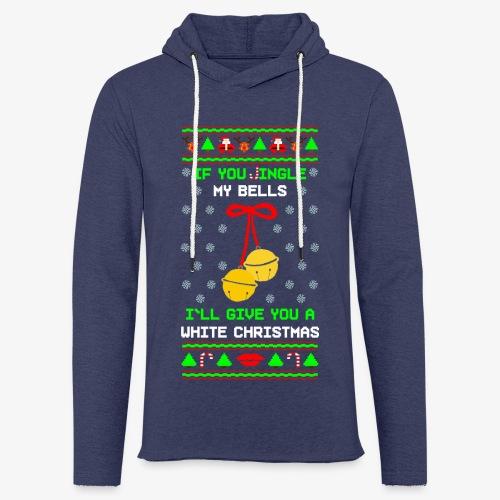 Leichtes Kapuzensweatshirt Unisex Jingle my Bells Ugly Xmas - Leichtes Kapuzensweatshirt Unisex