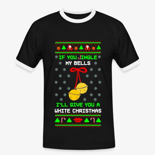 Männer Kontrast T-Shirt Jingle my Bells Ugly Xmas - Männer Kontrast-T-Shirt