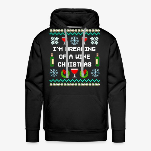 Männer Premium Hoodie Wine Christmas Ugly Sweater - Männer Premium Hoodie