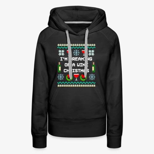 Frauen Premium Hoodie Wine Christmas Ugly Sweater - Frauen Premium Hoodie