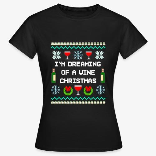 Frauen T-Shirt Wine Christmas Ugly Sweater - Frauen T-Shirt
