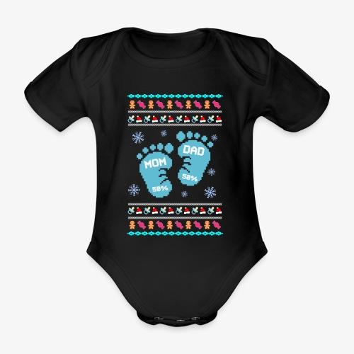 Baby Bio-Kurzarm-Body Baby Son Ugly Christmas - Baby Bio-Kurzarm-Body