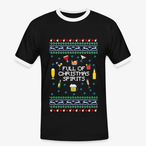 Männer Kontrast  T-Shirt Xmas Spirits Ugly Sweater - Männer Kontrast-T-Shirt