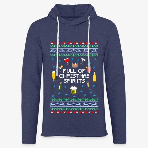 Leichtes Kapuzensweatshirt Unisex Xmas Spirits Ugly Sweater - Leichtes Kapuzensweatshirt Unisex
