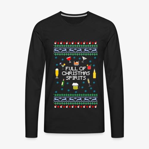 Männer Premium Langarmshirt Xmas Spirits Ugly Sweater - Männer Premium Langarmshirt
