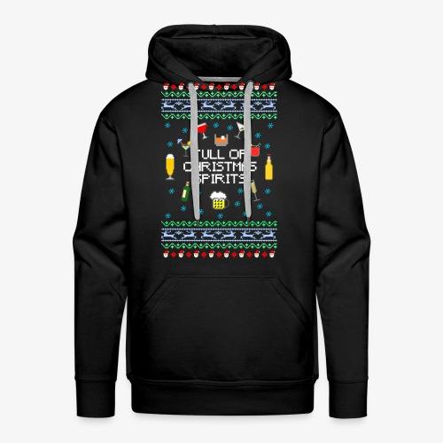 Männer Premium Hoodie Xmas Spirits Ugly Sweater - Männer Premium Hoodie