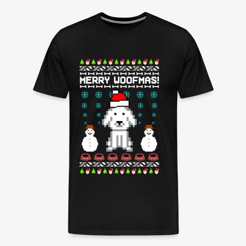 Männer Premium T-Shirt merry woofmas ugly xmas - Männer Premium T-Shirt