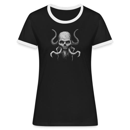 Creepy Skull - T-shirt contrasté Femme