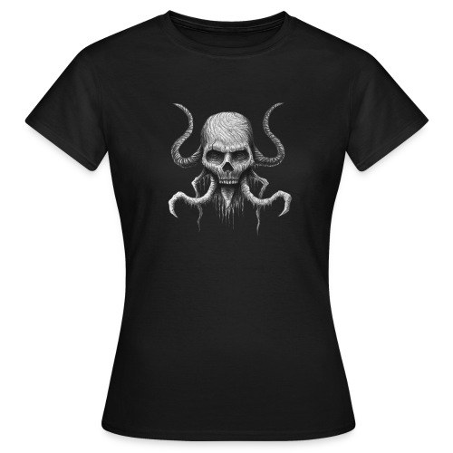 Creepy Skull - T-shirt Femme