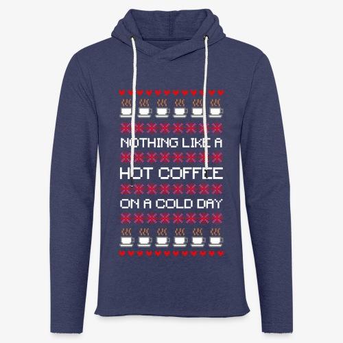 Leichtes Kapuzensweatshirt Unisex Cold das Coffee Ugly Christmas - Leichtes Kapuzensweatshirt Unisex
