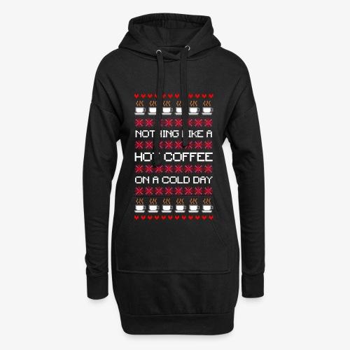 Hoodie-Kleid Cold das Coffee Ugly Christmas - Hoodie-Kleid
