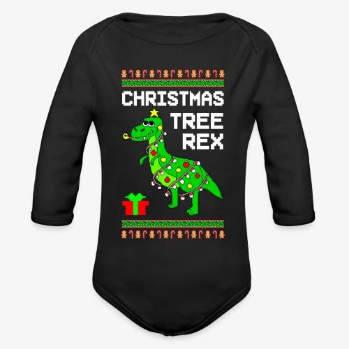 Baby Bio-Langarm-Body Tree Rex Ugly Christmas - Baby Bio-Langarm-Body