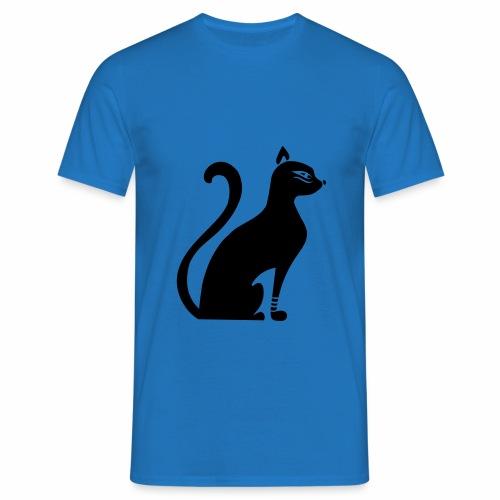 Camiseta de corte clásico para hombres diseño gato egipcio  - Camiseta hombre