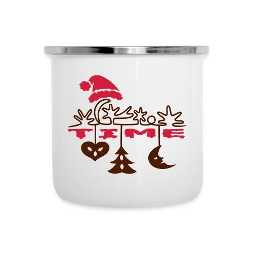 Weihnachten - Emaille-Tasse