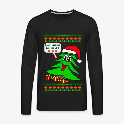 Männer Premium Langarmshirt Balls Ugly Christmas - Männer Premium Langarmshirt
