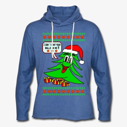 Leichtes Kapuzensweatshirt Unisex Balls Ugly Christmas - Leichtes Kapuzensweatshirt Unisex